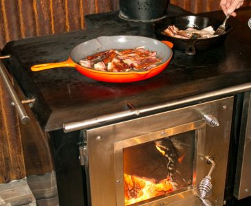 heating and cooking with a wood cookstove
