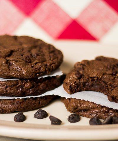 Einkorn Flour Double Chocolate Chip Cookies